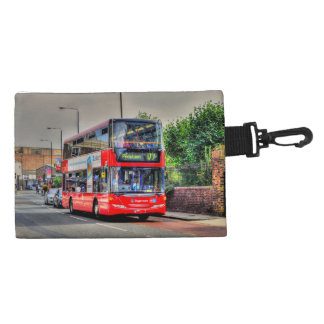 Greenwich to Peckham Red Double-decker Bus UK Accessory Bags