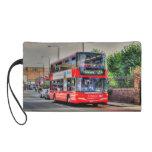 Greenwich to Peckham Red Double-decker Bus UK Wristlet Purses