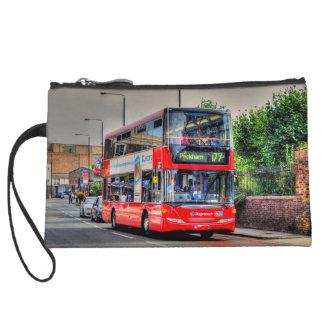 Greenwich to Peckham Red Double-decker Bus UK Wristlet
