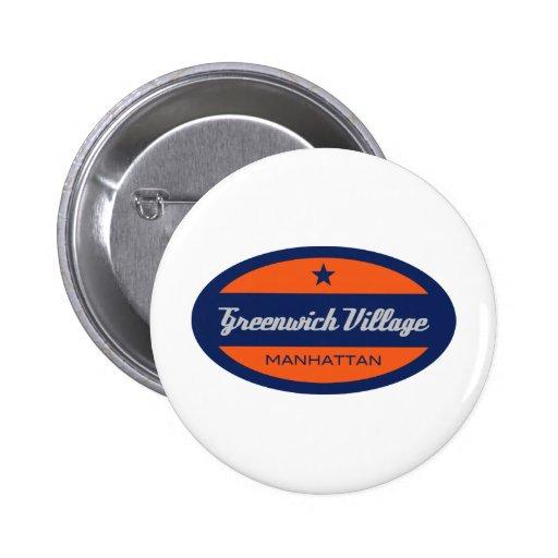 Greenwich Village Pinback Button