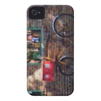 Greenwich Village de la bicicleta de la entrega iPhone 4 Case-Mate Cárcasas