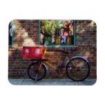 Greenwich Village de la bicicleta de la entrega Imán De Vinilo