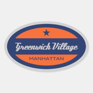 Greenwich Village Oval Sticker