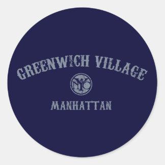 Greenwich Village Classic Round Sticker
