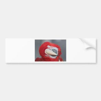 Greenwing macaw bumper sticker