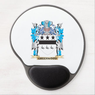 Greenwood Coat of Arms - Family Crest Gel Mouse Pad