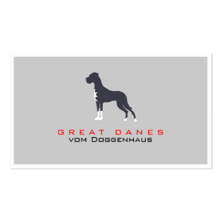 Greeny Great Dane Double-Sided Standard Business Cards (Pack Of 100)