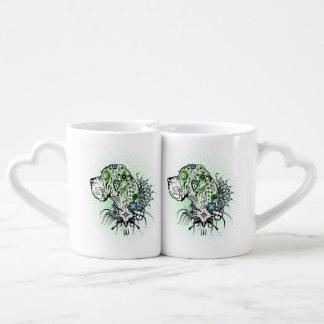 Greeny Great Dane Coffee Mug Set