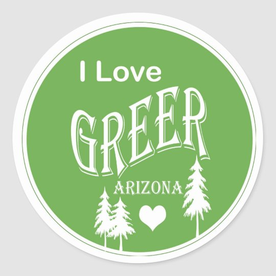Greer Arizona Classic Round Sticker