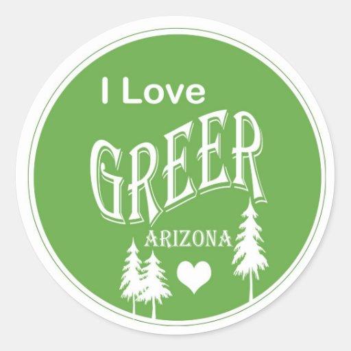 Greer Arizona Pegatina Redonda