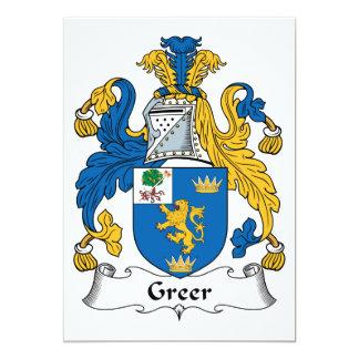 Greer Family Crest Card