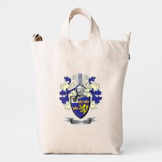 Greer Family Crest Coat of Arms Duck Bag