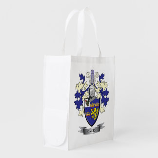 Greer Family Crest Coat of Arms Grocery Bag