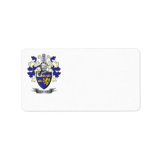 Greer Family Crest Coat of Arms Label