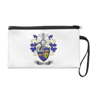 Greer Family Crest Coat of Arms Wristlet