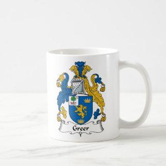 Greer Family Crest Classic White Coffee Mug