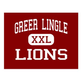 Greer Lingle - Lions - Middle - Rogers Arkansas Postcard