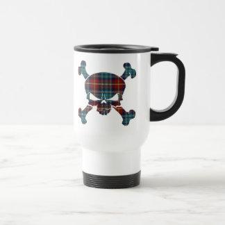 Greer Tartan Skull No Banner Mug