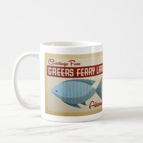Greers Ferry Lake Fish Vintage Travel Coffee Mug