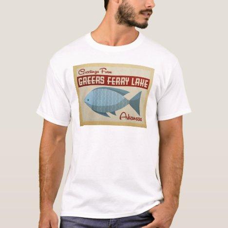 Greers Ferry Lake Fish Vintage Travel T-Shirt
