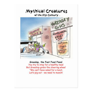 Greeslop, the Fast Food Fiend Postcards