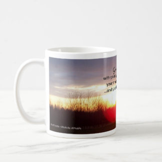 Greet each day...Inspirational quote Mug