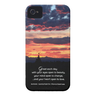 Greet each day with your eyes open to beauty... iPhone 4 cover