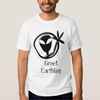 Greet Earthling Alien Tee Shirt