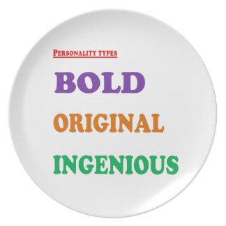 Greet Gift Friends: BOLD ORIGINAL INGENIOUS Humans Plates