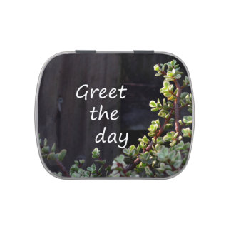 greet the day with baby jade jelly belly candy tins