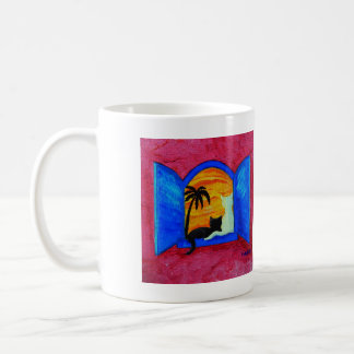 Greet The Morning Cat Cup