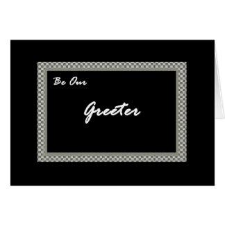GREETER Wedding  Invitation Greeting Card
