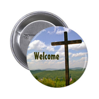 Greeters Pin 2 Inch Round Button