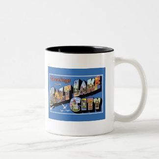 Greetigs from Salt Lake City Two-Tone Coffee Mug