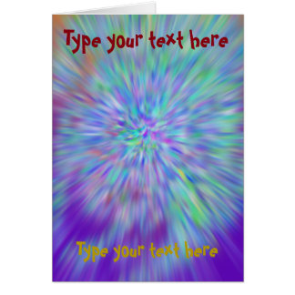 Greetin card color abstract