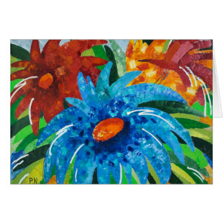 Greeting 123 Cards - Abstract Flowers