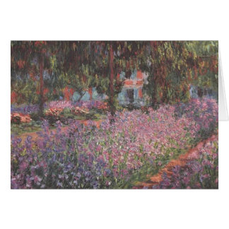 Greeting 123 Cards - Monets garden in Giverny
