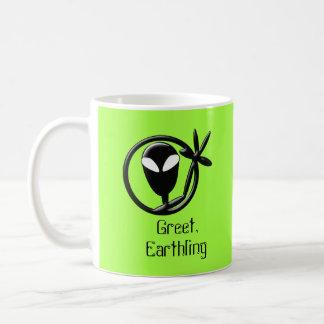 Greeting Alien Greet Earthling Coffee Mug