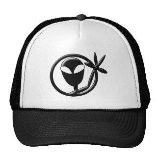 Greeting Alien Trucker Hat