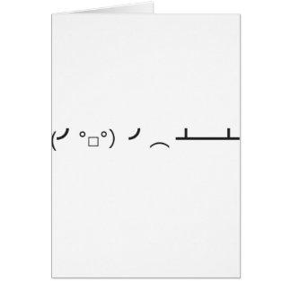 (╯°□°)╯︵ ┻━┻ GREETING CARD