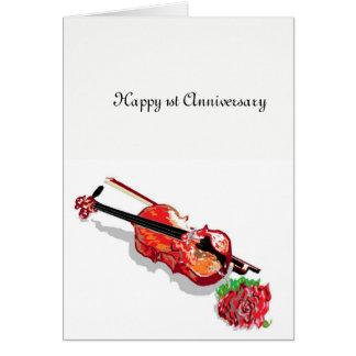 Greeting Card 1 St Wedding Anniversary