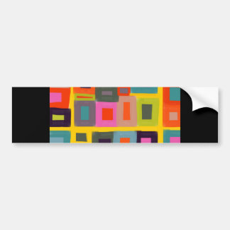 Greeting card Abstract Magic Squares painting Bumper Sticker