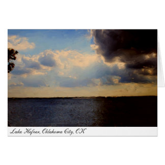 Greeting Card ~ Beautiful Lake & Clouds Painting