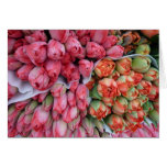 GREETING CARD Beautiful Tulips in France