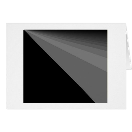 Greeting Card Black Rainbow