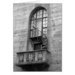 Greeting card, blank, with staircas, black & white card