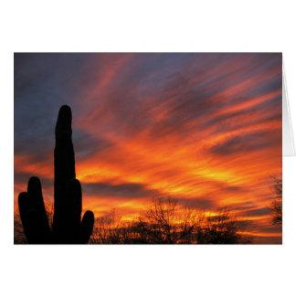 Greeting Card-Blazing desert sunset Card