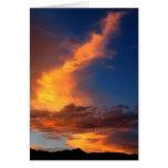 Greeting Card-Blazing sunset across majestic cloud