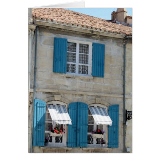 GREETING CARD -  Blue Shutters France