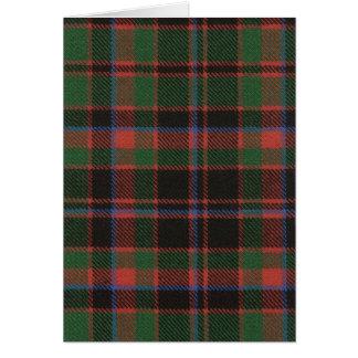 Greeting Card Buchan Clan Ancient Tartan Print
